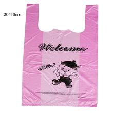 25x40cm Vest Shopping Bags HDPE Food Grade Transparent Plastic Shopping Bag / Supermarket Retailing Bags / Household Storage Bag
