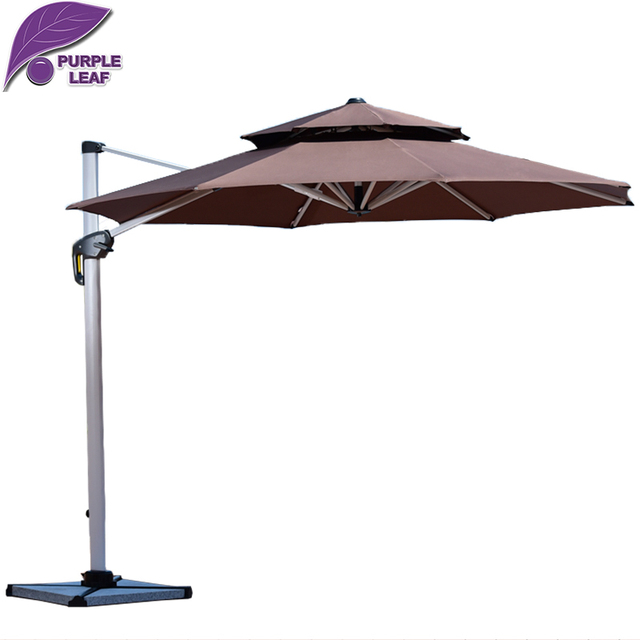 Purple Leaf Patio Umbrella Canopy Outdoor Market With Several Colors Offset Cantilever Jardin Round