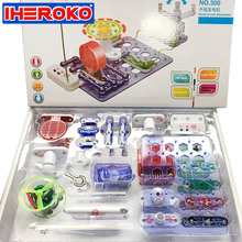 Electronic Block Circuit Science Educational Learning Integrated Building Blocks Kit Creative Toy Physics Development Toys(China)