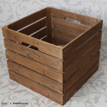 Cottage Chic Square Many Usage Handmade Old Aged Vintage Wooden Antique Crate(China)