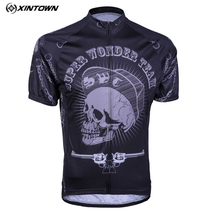 Buy Xintown Skull Cycling Jersey Tops Team Racing Sport Cycling Clothing Short Sleeve mtb Bike Jersey Bicycle Clothes Ropa Ciclismo for $23.98 in AliExpress store