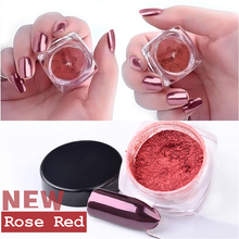 Hot 2g/box Rose Gold Magic Mirror Powders Nail Art Glitters Dust Shinning Nail Pigments Manicure Tools Nails Art Decorations