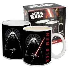 Star Wars Kylo Ren Temperature Sensing Mug Color Change Coffee Mugs Black White Milk Coffee Taza Gogeta Gift With Color Box(China)