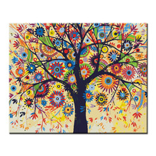 New Diy painting by numbers hand painted canvas oil paintings colour tree canvas living room wall pictures fashion decoration