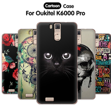 EiiMoo Cartoon Back Cover For Capa Oukitel K6000 Pro Case Silicon Soft TPU Phone Case For Funda Oukitel K6000 Pro Case Cover 5.0(China)
