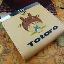 New Arrival Double Cameo Color Printing Candy Color Woman/Man Metal HASP Anime Wallet  Famous Japanese Cartoon ONE PIECE/ TOTORO