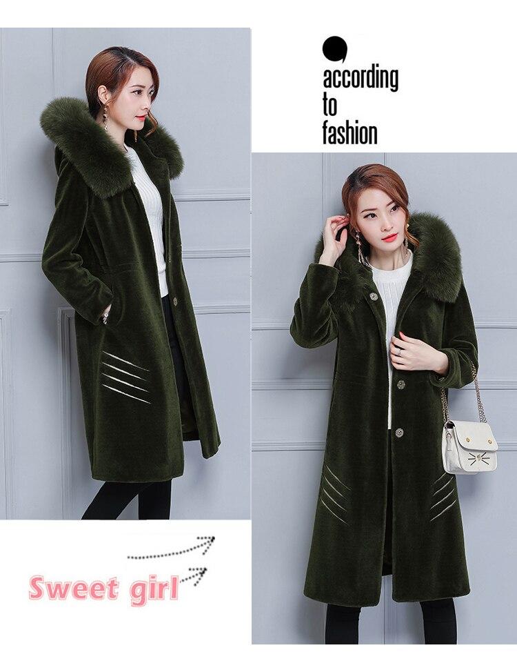 caaf4235941 2019 Thick Winter Pink Warm Faux Fur Teddy Coat Women Korean Fashion ...