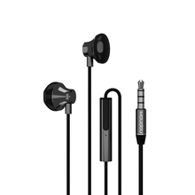 Moudou Metal HiFi Half In-Ear Earphones Noise Cancelling Super Bass Music Earbuds with Mic Handsfree Headset for Phone iphone 6(China)
