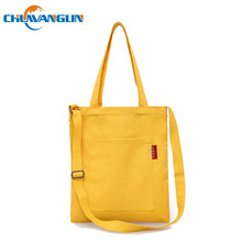 Chuwanglin canvas shoulder bags College winds women messenger bags Solid color casual woman bag light lady's handbag A09011(China)