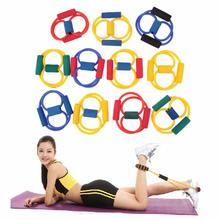 Wholesale 8 Type Yoga Resistance Muscle Chest Expander Rope Workout Fitness Exercise Yoga Tube Sports Pulling Exerciser