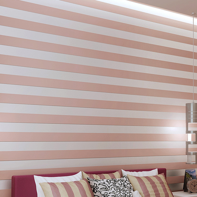 New Modern simple nonwoven fabric wide horizontal striped wallpapers office living room bedroom TV sofa backdrop wall coating<br>