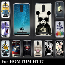 For HOMTOM HT17 HT 17 Soft silicon tpu Mobile Phone Cover Case DIY Color Paitn Cellphone Bag Shell Free Shipping