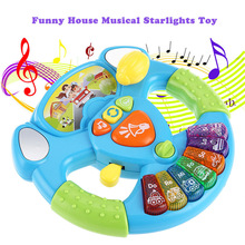 New Arrival Kids Baby Steering Wheel Musical Instruments Handbell Developing Educational Toys Child Xams For Kids Christmas Gift(China)