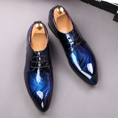 Free ship mens tuxedo shoes blue/red fancy fashion braid shoes/event/ stage performance shoes/photo-shooting shoes