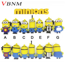 VBNM minions usb flash drive despicable me 2 memory stick pendrive 4gb 8gb 16gb lovely usb stick mini pen drive USB 2.0