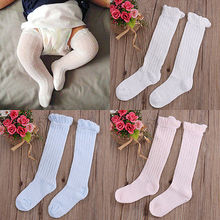Pudcoco New 2017 Fashion Newborn Infant Toddler Baby Girls 0-3Y Summer Cotton Knee High Socks Hot Tights Stockings Leg Warmers(China)