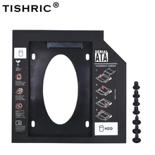 TISHRIC New Plastic 9.5mm SATA 2nd hdd Segundo Caddy Optibay 3.0 para 2.5 ''SSD DVD CD-ROM Adaptador de unidade de Disco Rígido Caso Recinto(China)