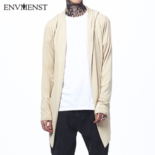 Envmenst 2017 Autumn Loose Long Mens Cardigans Sweaters New Fashion Big Size Jumpers Mens Hooded Sueter Knit Sweater(China)