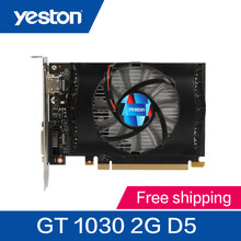 Yeston GeForce GT 1030 2 ГБ GDDR5 Графика карт Nvidia pci express 3,0 Настольный компьютер PC видео игр Графика карты(China)