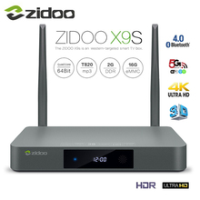 Zidoo X9S ТВ коробка 4 К * 60fps HD HDMI 2.0 Android 6.0 Quad-Core HDMI 2.0 BT4.0 Телевизионные приставки dual Band WI-FI 2 г + 16 г IP ТВ media player(China)