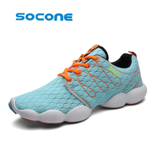 Socone women knitwear running shoes breathable summer ladies' shoes for women sneakers Sports fitness training shoes(China)