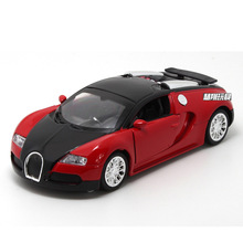 Musical Flashing Alloy Vehicles Diecast Toy Sports Car 1:36 Color Random 13cm Door Can Open