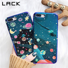 LACK Universe Series Phone Case For iphone X Case For iphone 6 6S 7 8 Plus Fashion Blu-Ray Cover Cute Planet Moon Star Cases(China)