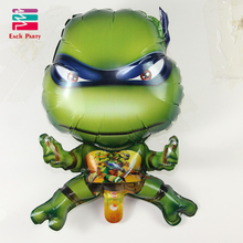 3D Teenage Mutant Ninja Turtles Aluminium Foil Balloons Cartoon Characters Ballons Children Classic Toys Party Decorations