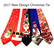 GUSLESON 2017 New Design Christmas Tie 9.5cm Style Men's Fashion Neckties Helloween Festival Tie Soft Designer Character Necktie(China)