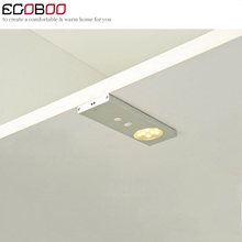 EGOBOO Special new Modern 12v 5050 Chip 2w Led Ir Sensor Cabinet Lights kitchen under cupboard furniture with Door Light Lamps