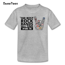 100 Best Rock Bands children's T Shirt 100% Cotton Crew Neck Short Sleeve Tshirt Clothing Boys Girls 2017 Funny T-shirt For Baby