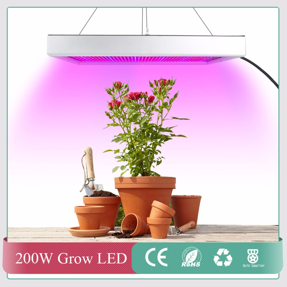 1pcs 2009LEDs Red Blue Led Grow Panel Lamp 200W SMD2835 Led Plant Grow Light Best for Hydroponic Systems Flowering Plant Bloom<br>