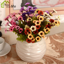 You And Me European Pastorale Style Artificial Flower 6 Fork Vivid Daisy Silk Flower Coffee Shop Home Party Wedding Decoration