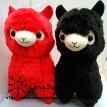 New Coming!Japanese Alpacasso Soft Toys Doll ,Red And Black Kawaii Alpaca Plush Kids Christmas Gift(China)
