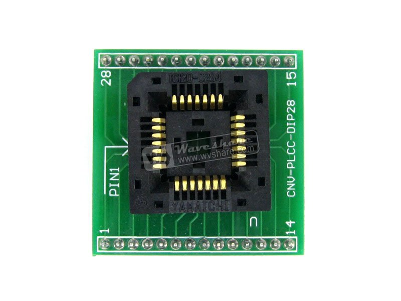 module PLCC28 TO DIP28 Yamaichi IC Programming Adapter Test &amp; Burn-in Socket for for PLCC28 Package 1.27mm Pitch<br>