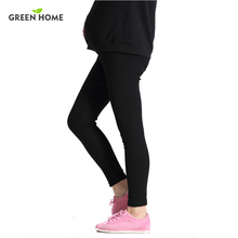 New 100%Cotton Women Pregnant Leggings Adjustable High Elasticity Maternity Leggings Pregnant Pants for Winter Maternity Pants(China)