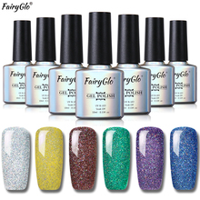 FairyGlo 10ml Neon Bling Nail Polish Stamping Paint Gellak Giltter Nail Polish Nail Art Nagellak Hybrid Varnish Vernis a Ongle(China)