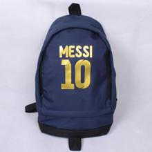 Free Shipping High Quality New Fashion Messi Soccer Football Backpack Boy Girl School Bag Computer Canvas Backpacks