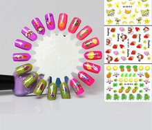 12pcs Nail Art Decals Water Transfer Nail Stickers Temporary Tattoos DIY Tips NEW Cute Fruits and vegetables pattern for Girl