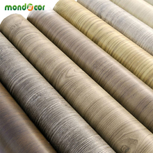 10Meters self adhesive wood wallpaper furniture stickers waterproof PVC vinyl tile wall paper for kitchen bathroom peel & stick