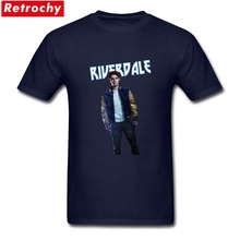 Trendy Men's Riverdale Archie T Shirt Short Sleeve Soft Cotton American TV Tee Shirts Summer Tshirt Graphic Tees for Men Summer(China)