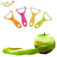 Delidge 1 pcs Kitchen Vegetable Peeler Candy Color Kitchen Good Helper Gadgets Vegetable Fruit Ceramic Cutlery Colorful Peeler(China)