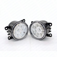 2pcs Car Styling Round Front Bumper LED Fog Lights DRL Daytime Running Driving  For Acura TL 2012-2013 2014