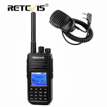 Digital DMR Walkie Talkie Retevis RT3+Mini Speaker Microphone UHF 5W 1000CH Encryption Two Way Hf Radio Professional Walky Talky