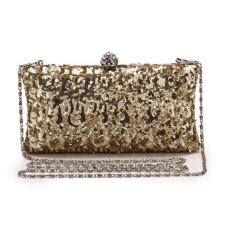 New Luxury Sequins Embroidery Diamond Day Clutch Purse Women Evening Bag Party Wedding Crossbody Bags Chain Bolsas Banquet Li768<br><br>Aliexpress