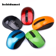 kebidumei 2.4GHz USB Optical Wireless Mouse USB Receiver Mice For Windows Linux Win 7 MAC Computer Accessoroes Wholesale(China)