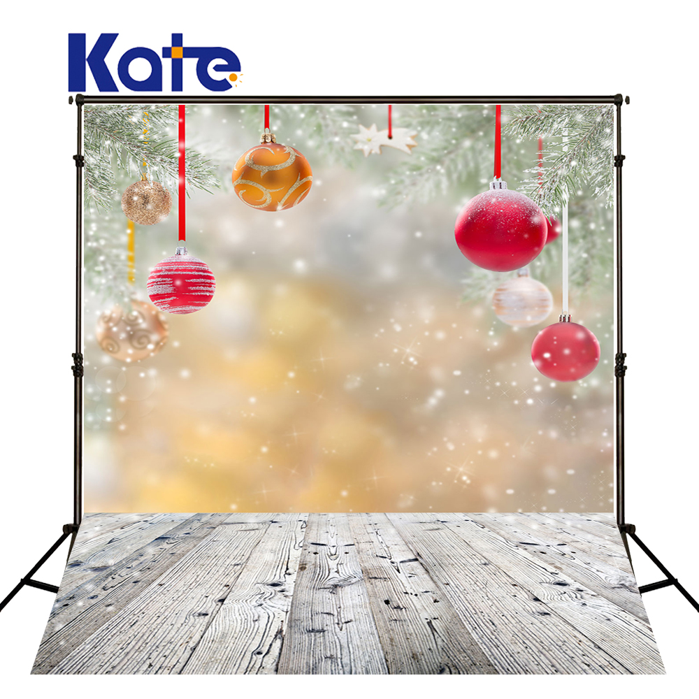 KATE Photography Backdrops Christmas Backdrop Newborn Photography Background Snowflakes and Wood Floor Background US Delivery<br>