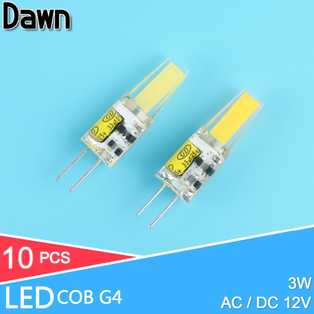 10pcs Dimmable COB G4 Bulb LED 6W 10W AC 220V ACDC 12V LED Lamp Crystal LED Light Lampadine Lampara Ampoule LED Bulb G4 Zarovka<br>