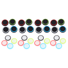 32pcs/lot Silicone Colorful Cap Thumb Stick Joystick Grip Game Accessory For Sony PS3 PS4 for Xbox 360 Xbox One
