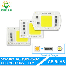 GreenEye AC 220V Integrated COB LED Lamp Chip 50W 30W 20W 10W 5W Smart IC Driver High Lumens For DIY Floodlight Spotlight(China)